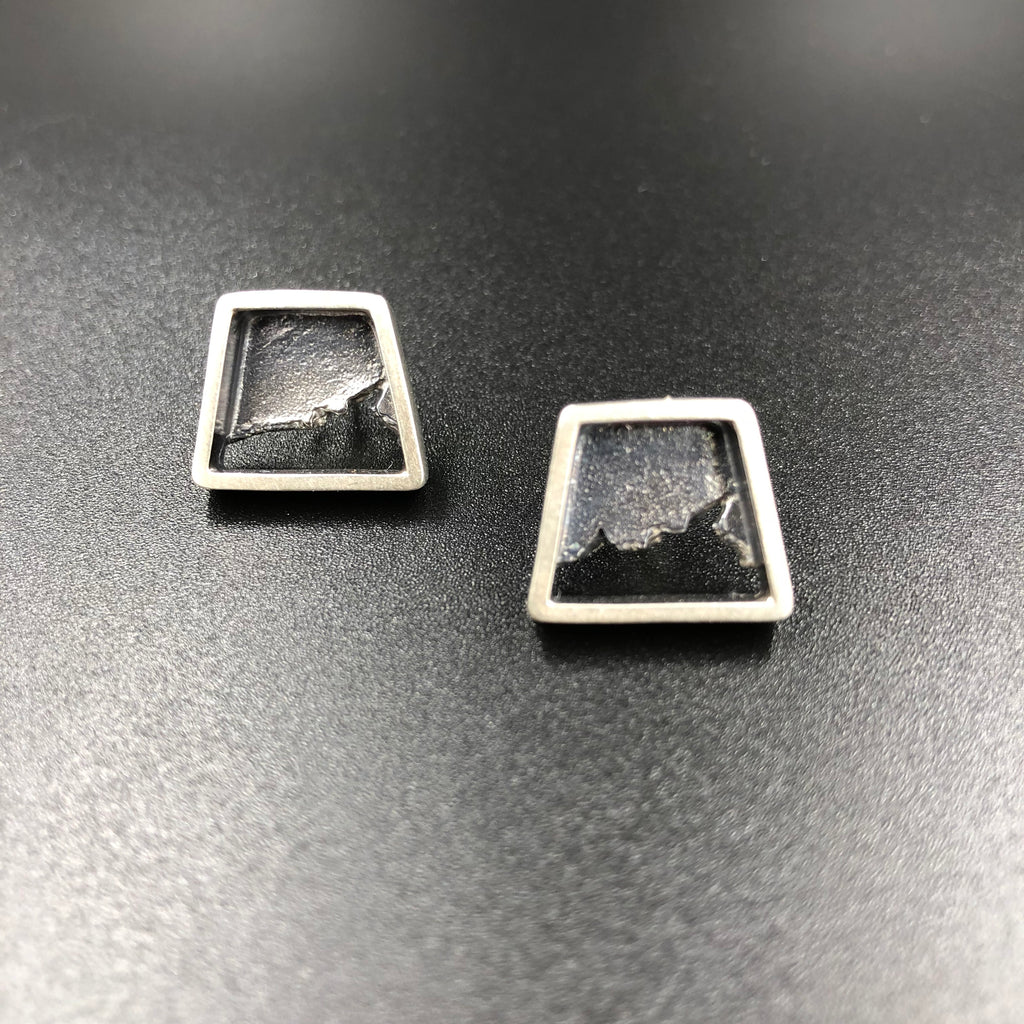 Trapezoid shaped small stud earrings - Seth Papac