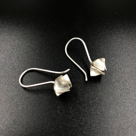 Bud Drop Earrings - Silver