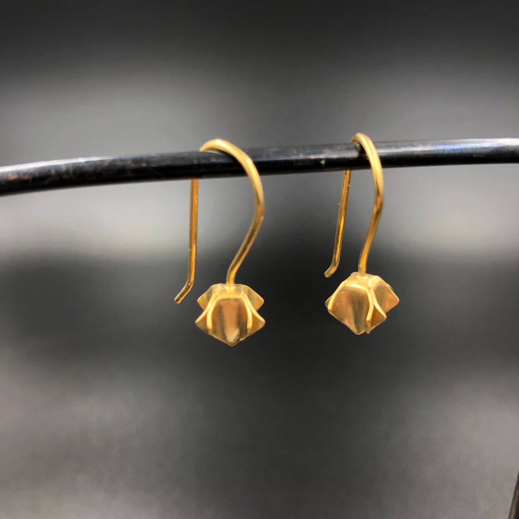 Bud Drop Earrings - Gold