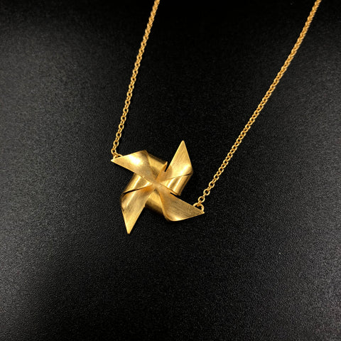 Pinwheel Necklace - Gold