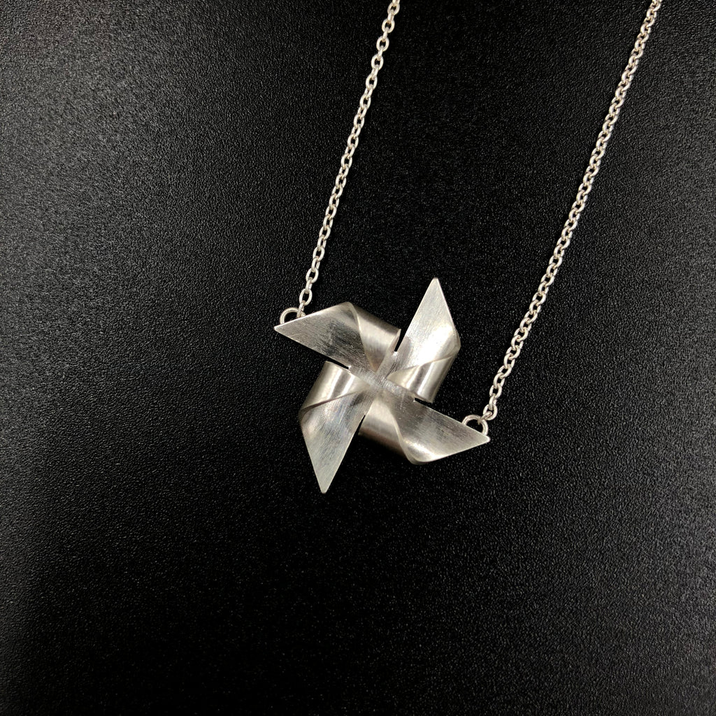 Pinwheel Necklace - Silver