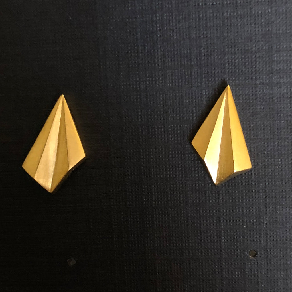 Pleated Mini Studs - Gold