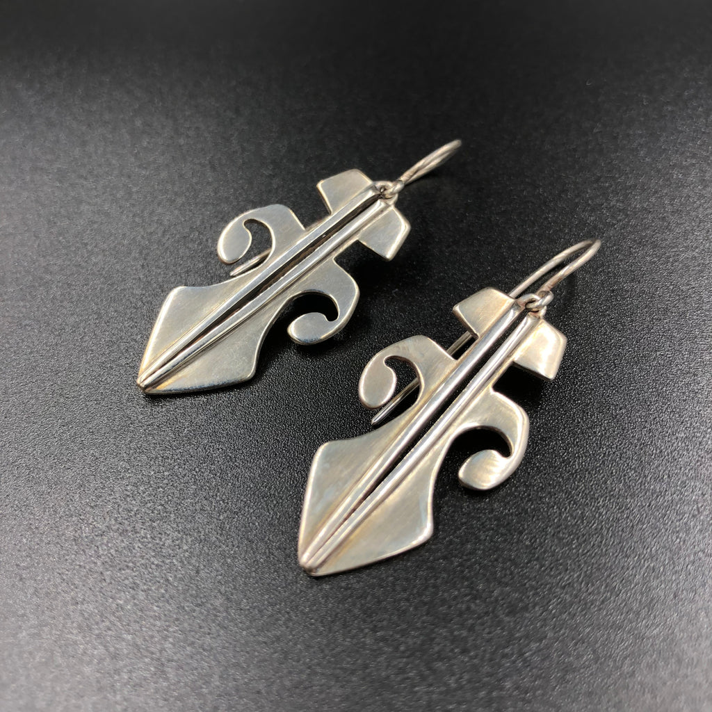 Tribal shield earrings