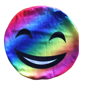 New Colorful Emoji Pillow Rainbow Smiley Emoji Plush Toy Emotion Cushion