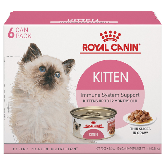 Royal Canin Cat Can Kitten Thin Slices 6pk/3oz