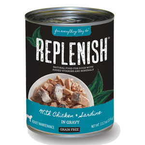 Replenish Chicken & Sardine in Gravy Can Dog Food (12 Pack)