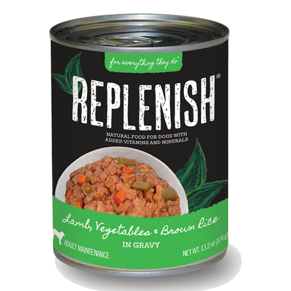Replenish Lamb, Vegetables & Brown Rice in Gravy Can Dog Food (12 Pack)