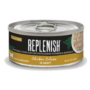 Replenish Chicken Entrée in Gravy Cat Can Food (24 Pack)