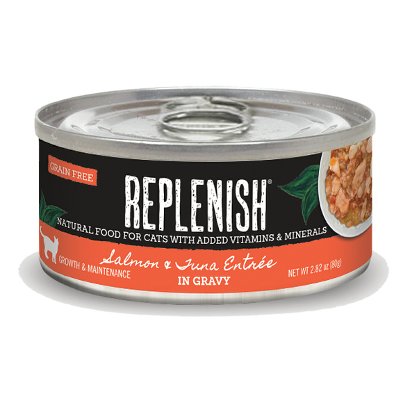 Replenish Salmon & Tuna Entrée in Gravy Cat Can Food (24 Pack)
