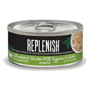 Replenish Shredded Chicken with Veggies Entrée Cat Can Food (24 Pack)