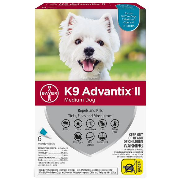 K9 Advantix II Medium Dog 11-20 lbs. 6 Pack