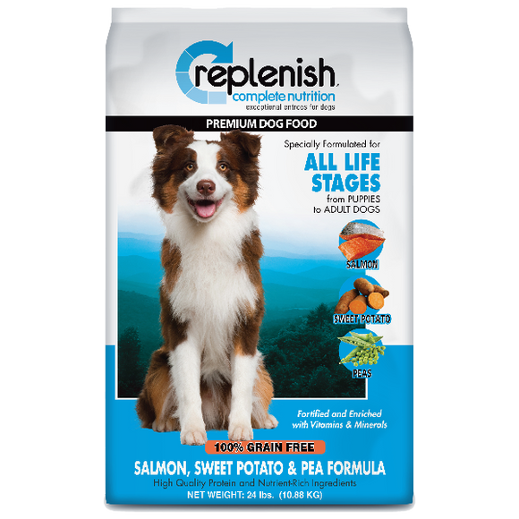 Replenish Classic Salmon, Sweet Potato & Pea Grain Free Dog Food