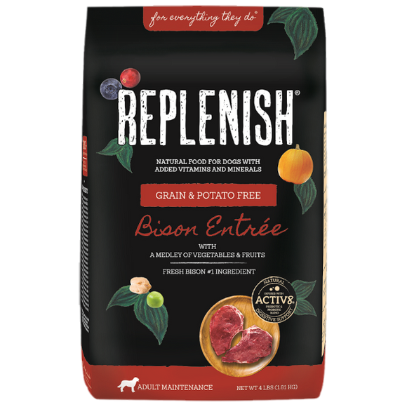 Replenish Activ8 Bison Grain & Potato Free Dog Food