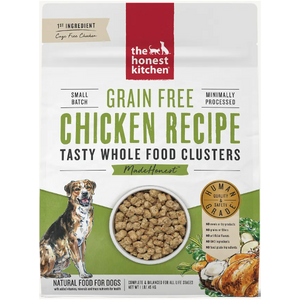 The Honest Kitchen Grain-Free Chicken Whole Food Clusters Dry Dog Food, 1-lb Box