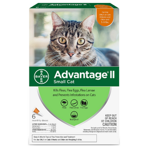 Advantage II for Cats 5-9 lbs. 6 Pack