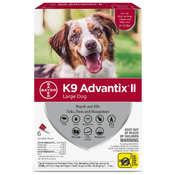 K9 Advantix II Large Dog 21-55 lbs. 6 Pack