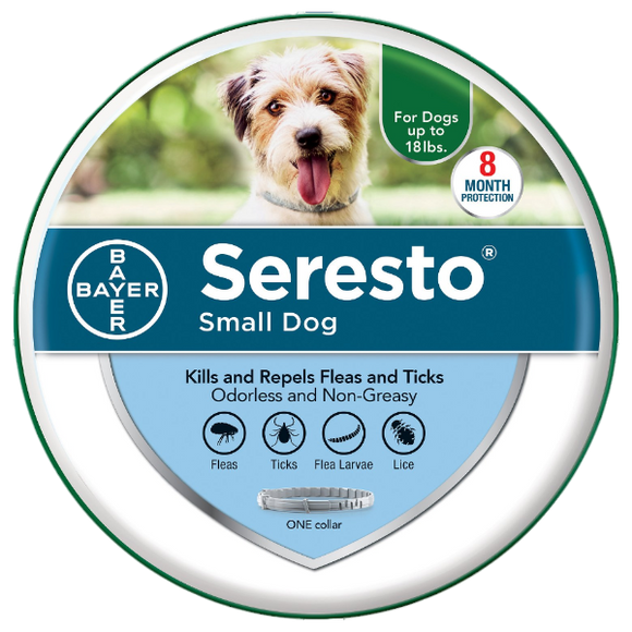 Seresto Small Dog up to 18lbs.