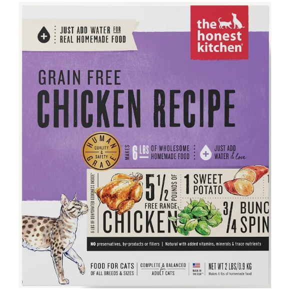 The Honest Kitchen Grain-Free Chicken Recipe Dehydrated Cat Food, 2-lb Box
