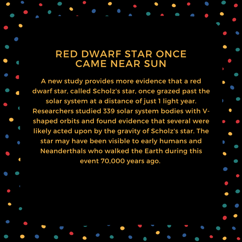 red dwarf star once came near sun