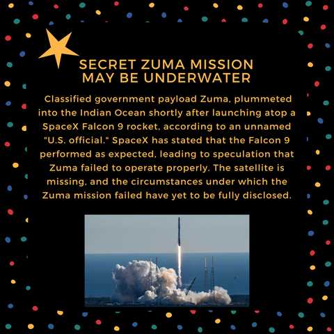 Secret Zuma Mission May Be Underwater