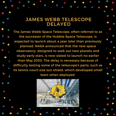 james webb telescope delayed