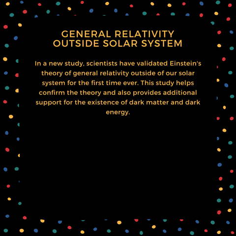 general relativity outside solar system