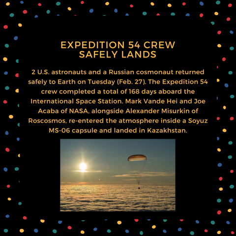 expedition 54 crew safely lands