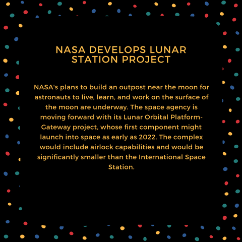 NASA develops lunar station project
