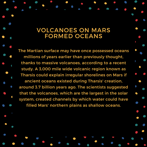 volcanoes on mars formed oceans