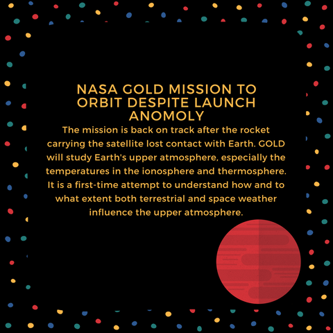 NASA GOLD Mission to Orbit Despite Launch Anomoly