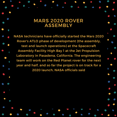 mars 2020 rover assembly