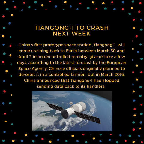 tiangong-1 to crash next week