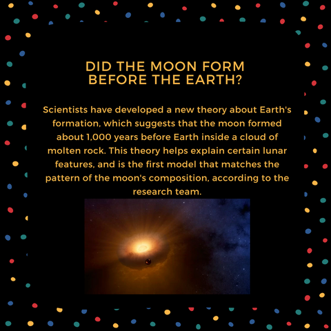 did the moon form before the earth?