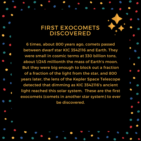 First Exocomets Discovered