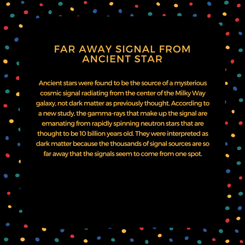 Far away signal from ancient star