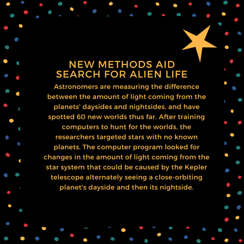 New Reasearch Aids Search for Alien Life