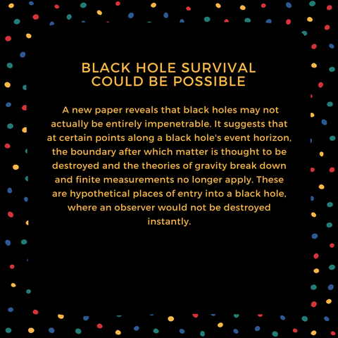black hole survival could be possible