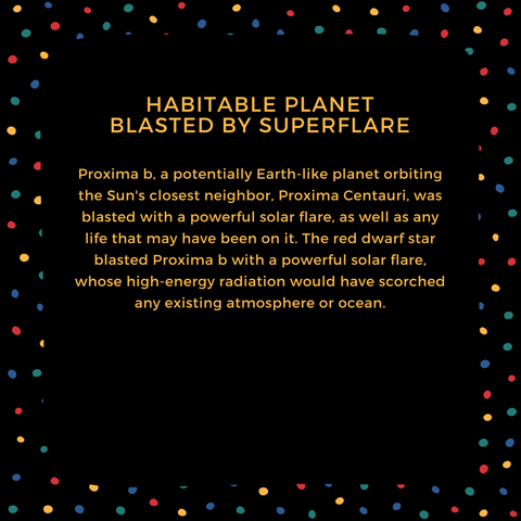 habitable planet blasted by superflare