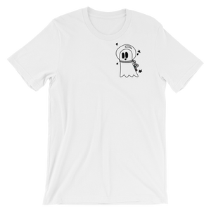 white cosmic ghost t-shirt
