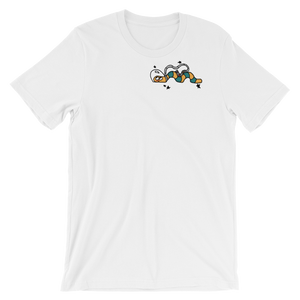 white cosmic snake t-shirt