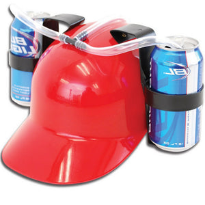 Beverage Helmet Drinking Beer cola Coke Soda Miner Hat Lazy lounged Straw Cap Birthday Party Cool Unique Toy Prop Holder Guzzler