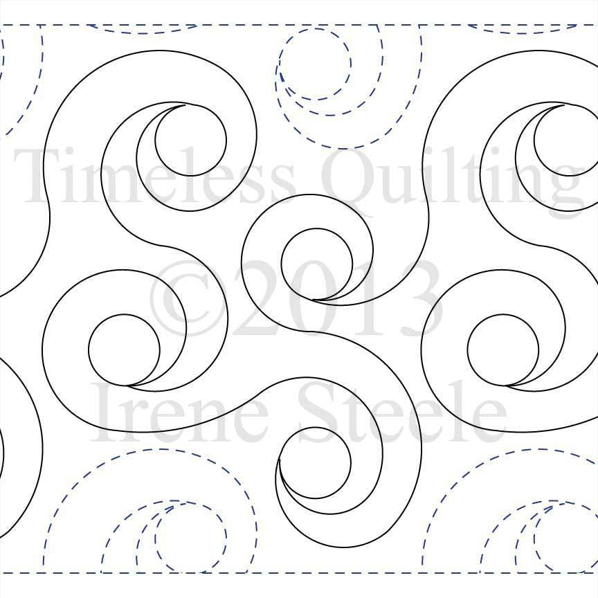 Spiral Rings  c.2008 Irene Steele by Timeless Quilting