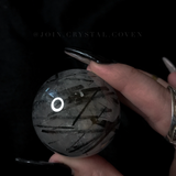The Shards of Shadow Tourmaline in Quartz Crystal Ball