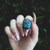 Moss Agate Adventurer Ring Size 5.5
