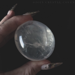 Moon Quartz Palm Stone V