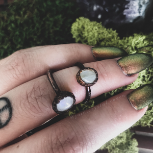The Moonstone Goddess Ring - Size 5.25 or 7.25
