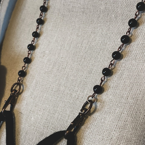 Black Tourmaline Mask Chain