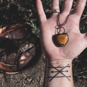The Witch's Magical Mookaite Heart Talisman