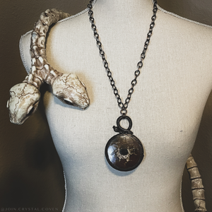 Septarian Snake Talisman of Rebirth