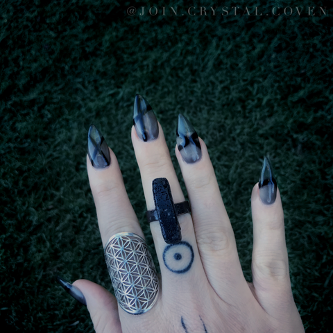 Wednesday Addams Ring - Size 8